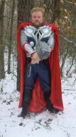 Thor Cosplay Winter Forest by KwongBee-Arts