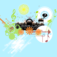 Vector art : theme music by PaulNLD