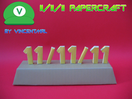 11-11-11 Papercraft by Vincentmrl