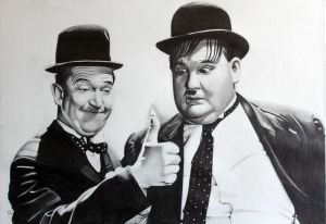 Laurel and Hardy by donchild