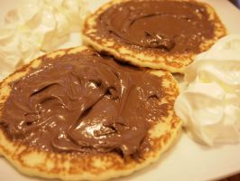 Pancakes with chocolate and cream by LarbillaCosplay
