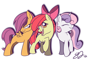 Cutie Mark Crusaders by probablyfakeblonde