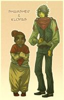 Shamsher and Klopas by wulfmune