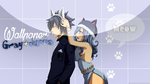 Wallpaper - Gray and Juvia kitty by Enara123