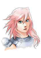 XIII-2 Sketch: Lightning Farron by Kanokawa