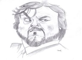 Jack Black by SlowmoII