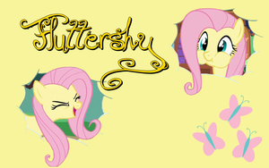 fluttershy wallpaper by erikagaga