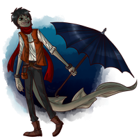 Design Concept: Fenmore the Frilled Shark by BitterBile