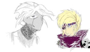 Anon and Rioku MS Paint sketch dump by Yavanni