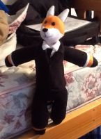 Fox In a Suit plushie commission by FoxTone