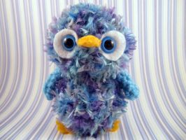 Amigurumi Blue and Purple Owl by AmiTownCreatures