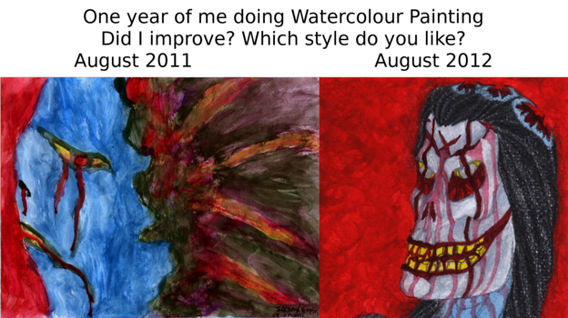 One Year of Watercolour Painting by holyguyver
