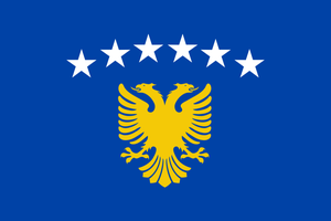 Kosovo Flag by MondiG