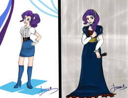 AC and MLP:FIM - Rarity by AngelPony99