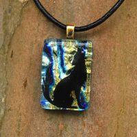 Howl Fused Glass Pendant by FusedElegance