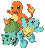 Pokemon Tattoo Design: 3 Starters by 0parkp