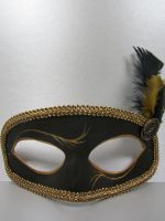 Black and gold masquerade mask by maskedzone