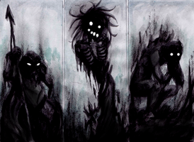 AoD monsters - Shadow people by Dyan-Syrius