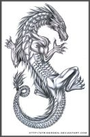 Dragon Tattoo Design by StriderDen