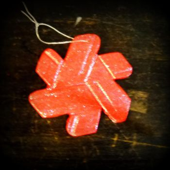 Red Northstar Ornament by photographsoflife