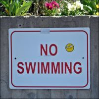 SRS BSNS no swimming. by Oughter