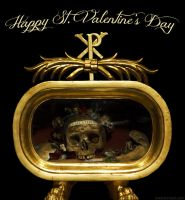 Saint Valentine Day Historical Reliquary Card by tursiart