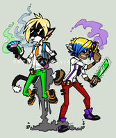 Buddy Cops: FROM THE FUTURE by DIN0LICH