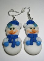 Earings, Snowman by oxanaart