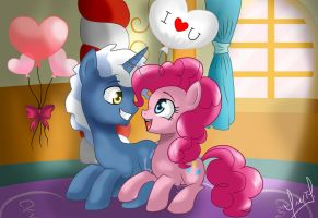 Hearts and Hooves Day: Pokey Pierce x Pinkie Pie by Zorbitas