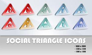 Social Triangle icons by mpw3d