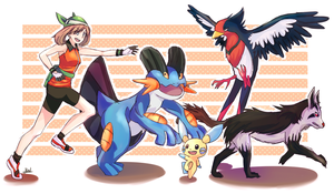 Pokemon Emerald drawing by Kirbeee