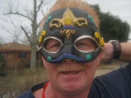 Saints Mardi Gras Mask front by Iolii