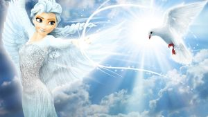 Frozen - 1920x1080 (Elsa Fly) by CoGraphiC