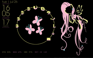Fluttershy Dream Desktop by Xris777