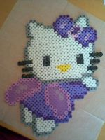 hello kitty perler hama by Silvermist5