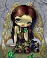 Angel with Emeralds by jasminetoad
