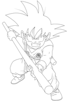 Lineart 035 - Gokuh 006 by VICDBZ