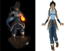 Korra Collab by Watermage244