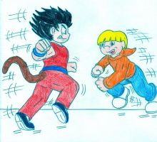 Kid Goku vs Numbuh 4 by Jose-Ramiro
