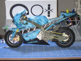 yamaha m1 recolor blue flames by terrorsound