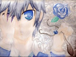 BlackButler: Rose bleue by TiiteMiissdu69