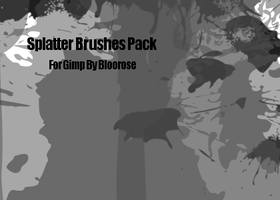 Spaltter Brushes For GIMP by CSVII