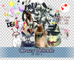 Crazy Animals PNGs by Bellacrix