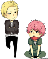 Zico and Zelo by pine-apples