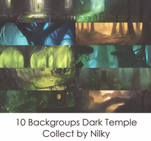 10 Backgroups Dark Temple by Nilky-M