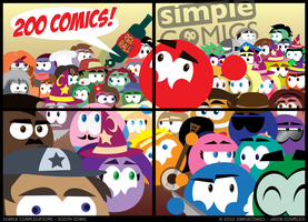SC200 - Two Hundred Comics! by simpleCOMICS