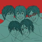 Free! Boys in Complementary Scheme by valerinam