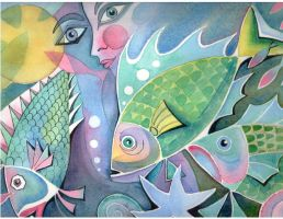 Fish painting I did long ago by karincharlotte