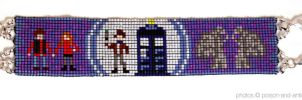 Purple Doctor Who Cuff by PookNero