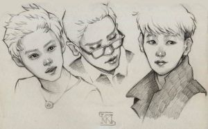 Sketch (LuChanBaek) by Cristal03